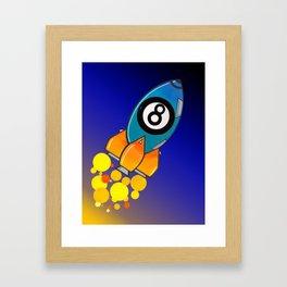 Eight Ball Rocket Framed Art Print