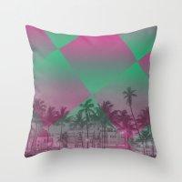 miami Throw Pillows featuring Miami by Sander Smit