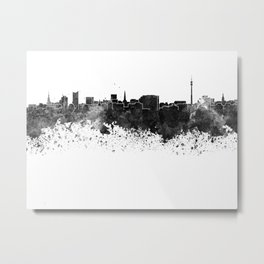 Dortmund skyline in black watercolor Metal Print