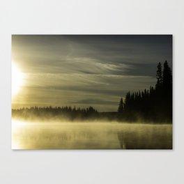 Foggy sunrise Canvas Print
