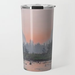 Yosemite Valley Sunrise Pretty Pink Travel Mug