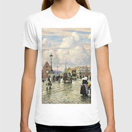 Paul Gustav Fischer - A Scene From Knippelsbro, Bridge In Copenhagen, When The Artist Was A Boy T-shirt