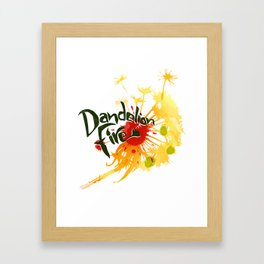 Dandelion Fire Framed Art Print