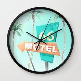 Motel 66 Wall Clock