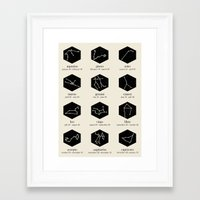 zodiac Framed Art Prints featuring Zodiac by Dorothy Leigh
