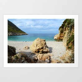 SICILIAN SEA SOUND Art Print