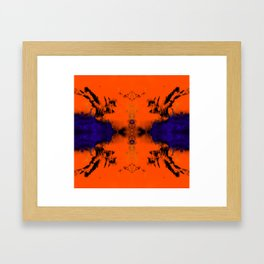 abstrackt blue/orange Framed Art Print