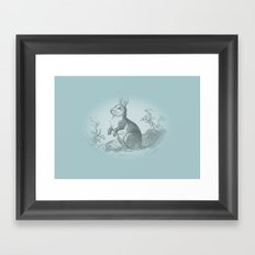 Bunny Rabbit {teal} Framed Art Print