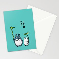 Chu & Chibi Totoro Pop art - Blue Version Stationery Cards