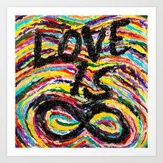 Love is Infinite Art Print