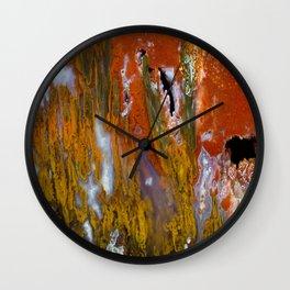 Cady Mountain Tube Agate Wall Clock