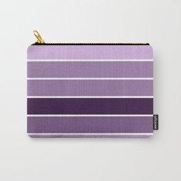 Lavender Purple Stripes Carry-All Pouch