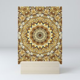 Flower Of Life Mandala (Earthlings) Mini Art Print