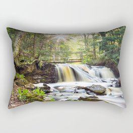 Upper Chapel Falls at Pictured Rocks National Lakeshore - Michigan Rectangular Pillow