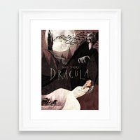 dracula Framed Art Prints featuring Dracula by Anne Lambelet