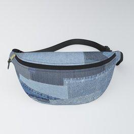Boroboro Blue Jean Japanese Boro Inspired Patchwork Shibori Fanny Pack