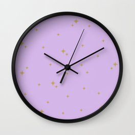 Purple Starburst Pattern Wall Clock