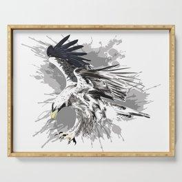 Stylized eagle art Serving Tray
