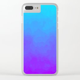 Blue and Purple Ombre - Swirly Clear iPhone Case