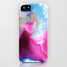Rainbow Down Abstract Watercolor Painting iPhone Case