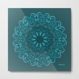 Flor de Agua Metal Print