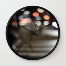 Biking lights Wall Clock