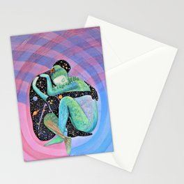 Space Earth Love Painting Nature Soul Mates Couple Wedding Art Tapestry (Infinite Love) Stationery Cards