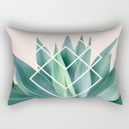 Agave geometrics - peach Rectangular Pillow