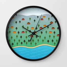 rural scenery Wall Clock
