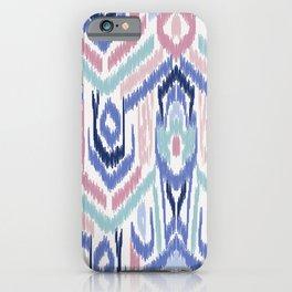 Ikat Ikat Pastel Wandering iPhone Case