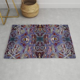 Skulls Purple Rouge Rug