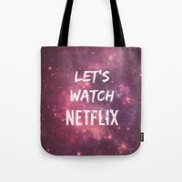 netflix Tote Bags featuring Netflix by Footeprints