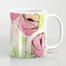Pink and Green Splotch Flowers Coffee Mug