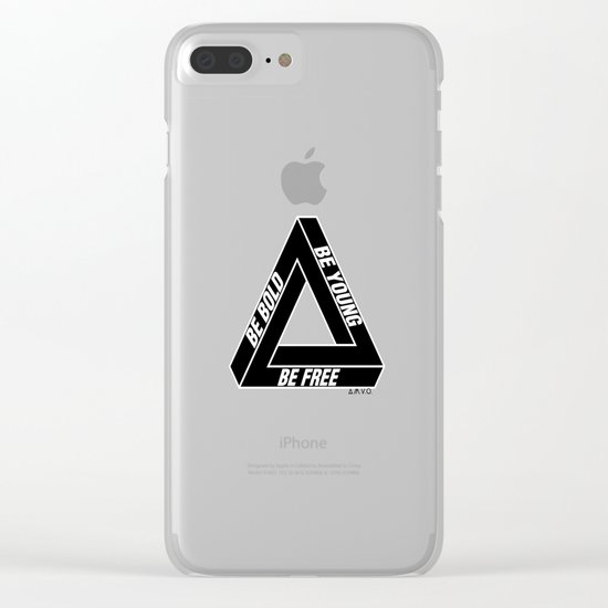 Penrose Triangle Clear iPhone Case