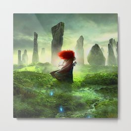 Merida The Brave - Portrait Merida Walking Metal Print