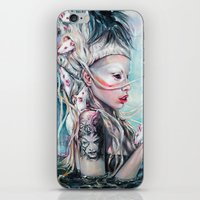 rat iPhone & iPod Skins featuring Yolandi The Rat Mistress 	 by Tanya Shatseva