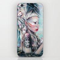 rat iPhone & iPod Skins featuring Yolandi The Rat Mistress  by Tanya Shatseva