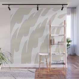 Neutral Abstract Brush Marks Wall Mural