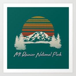 Mount Rainier National Park Art Print