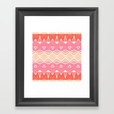 Geo Triangle Peach 2 Framed Art Print