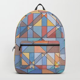 Triangle Pattern no.16 Pastels Backpack