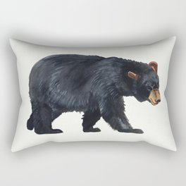 Watercolour Black Bear Drawing Rectangular Pillow