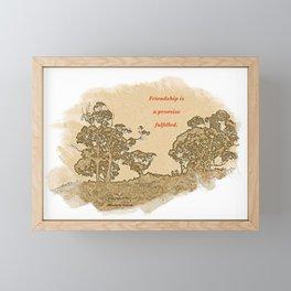 """Trees Of Catalina #2""/Simple Friendship Framed Mini Art Print"