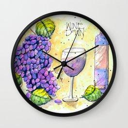 Wine Down Wall Clock