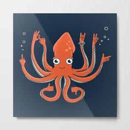Octopus Signals Metal Print