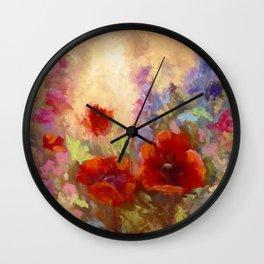 Poppy Time Wall Clock