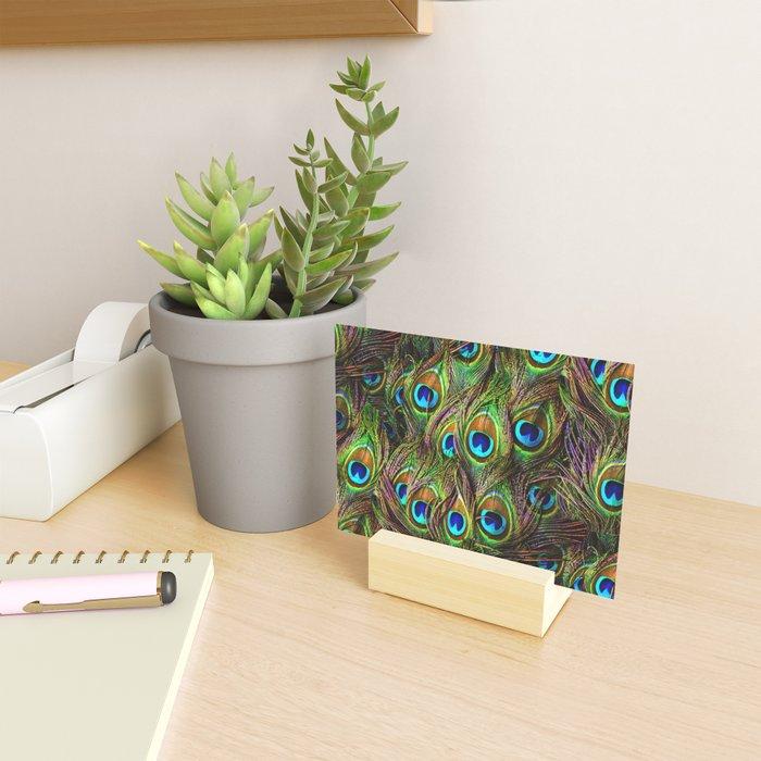 Peacock Feathers Invasion - Wave Mini Art Print