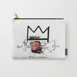 Jean-Michel Basquiat - King Alphonso 1983 Carry-All Pouch