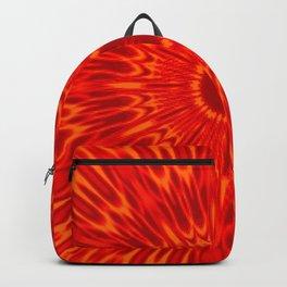 Red Sun Mandala Backpack