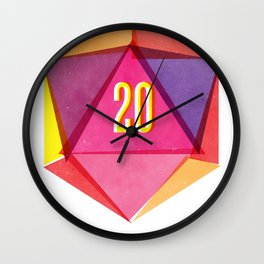Rolling D20's Like A Big Shot  Wall Clock